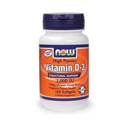 Now Foods Vitamin D-3 2000 IU 120 Softgels