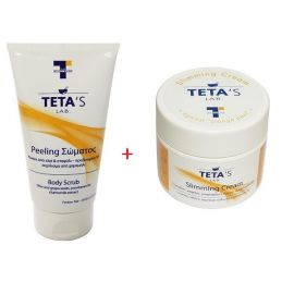 Teta's Lab Set Slimming Cream 150+Body Peeling 150 ml