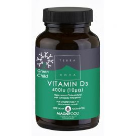 TERRANOVA GREEN CHILD Vitamin D3 400iu - 50 capsules