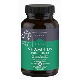 TERRANOVA GREEN CHILD Vitamin D3 400iu - 50 capsules
