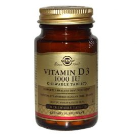 SOLGAR Vitamin D-3 1000 IU 100 Chewable Tabs