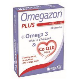 Health Aid Omegazon Plus Ω3 & CoQ10 30 Κάψουλες