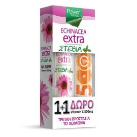 Power Health Echinacea Extra με ΣΤΕΒΙΑ 24 ΔΙΣΚΙΑ+ΒΙΤΑΜΙΝΗ C 500m
