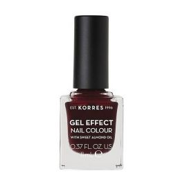 Korres Gel Effect Nail Colour Βερνίκι Νυχιών No57 Burgundy Red 11ml