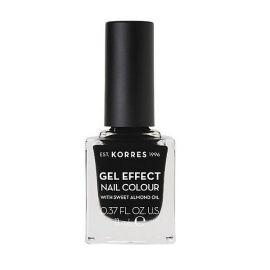 Korres Gel Effect Nail Colour Βερνίκι Νυχιών No100 Black 11ml