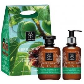 APIVITA REFRESING FIG SET Showergel200ml+Body Milk 200ml