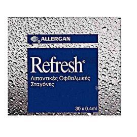 Allergan Refresh Λιπαντικές Οφθαλμικές Σταγόνες 30x0.4ml