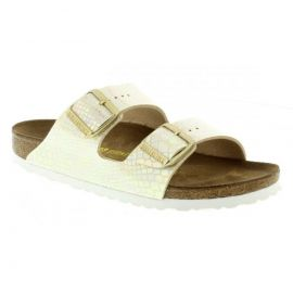 Birkenstock Arizona Shiny Snake Cream Ανατομικο Υποδημα
