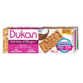 DUKAN Μπισκότα Βρώμης με γεύση Καρύδα 225γρ