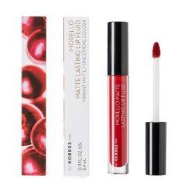 Korres Morello Matte Lasting Lip Fluid 3.4ml 59 Brick Red