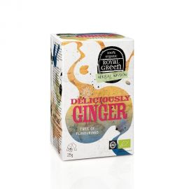 Royal Green Organic Tea Deliciously Ginger 16 tea bags