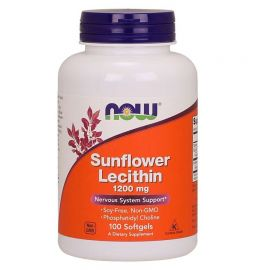 NOW Sunflower Lecithin 1200mg - 100 Vcaps
