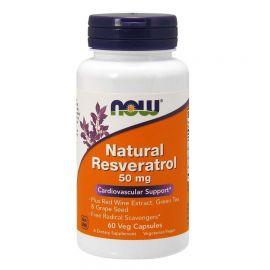 NOWFOODS Natural Resveratrol 50mg - 60 Vcaps