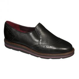 Scholl Salandra Black Leather Anatomic F276111004