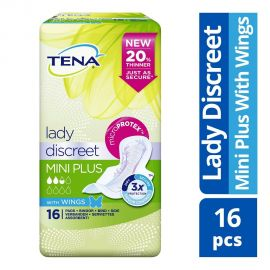 Tena Lady Discreet Mini Plus Wings sticker 8x16