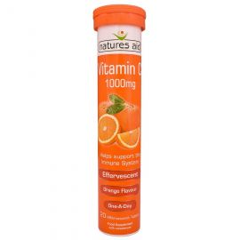 NATURES AID Vitamin C 1000mg Effervescent (Orange Flavour) - 20