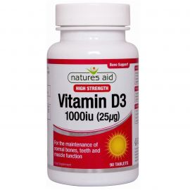 NATURES AID Vitamin D3 1000iu - 90 tabs