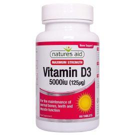 NATURES AID Vitamin D3 5000iu - 60 tabs