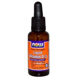 Now Foods Vitamin D-3 Liquid (1,000 Iu/Drop) Extra Strength - 1