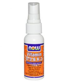 Now Vitamin D3 1000 IU & Vitamin K 100 mcg Liposomal 60 ml