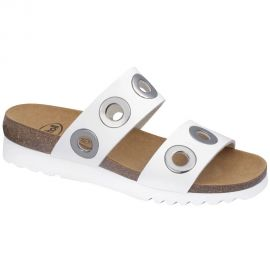 Scholl Shoes LARA ΛΕΥΚΟ Ανατομικό Πέδιλο
