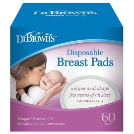 Dr. Brown's Επιθέματα Στήθους Μιας Χρήσης - 60τμχ