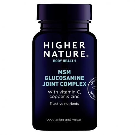 HIGHER NATURE MSM GLUCOSAMINE JOINT COMPLEX 90 v-tabs