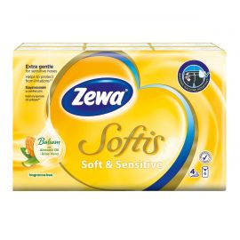 ZEWA Softis Soft & Sensitive Χαρτομάντηλα Τσέπης 4Φ - 6 τεμ.