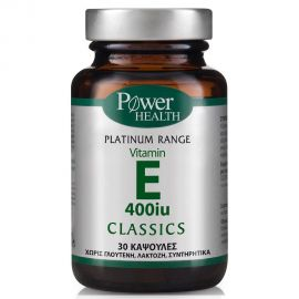 Power Health Classic Platinum Vitamin E 400IU 30 κάψουλες