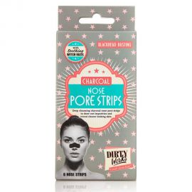 DIRTY WORKS Blackhead Busting Charcoal Nose Pore Strips - 3τεμ.