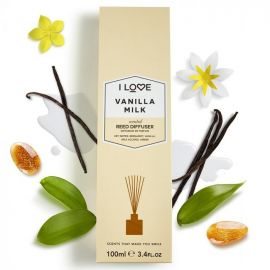 I LOVE SCENTS Vanilla Milk Reed Diffuser - 100ml