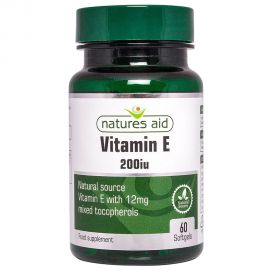 NATURES AID Vitamin E 200iu Natural Form - 60 softgels