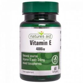 NATURES AID Vitamin E 400iu Natural Form - 60 softgels