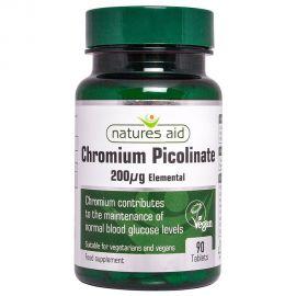 NATURES AID Chromium Picolinate 200ug elemental - 90 tabs