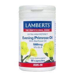 LAMBERTS EVENING PRIMROSE OIL WITH STARFLOWER OIL 1000mg (12% GL