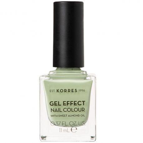 Korres Gel Effect Nail Colour Βερνίκι Νυχιών No34 Crunchy Pistachio 11ml