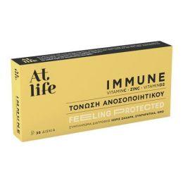 At Life IMMUNE| Βιταμίνη C, Ψευδάργυρος, Βιταμίνη D3 30 tablets