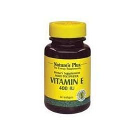 Nature's Plus Vitamin E 400 I.U. (mixed tocopherols), 60 caps