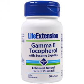 LifeExtension Gamma E Tocopherol with Sesame Lignans 60caps
