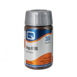 QUEST MEGA B 100 Timed Release (B-complex 100mg) 30 tabs