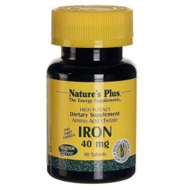 Nature's Plus Iron 40mg 90 tabs