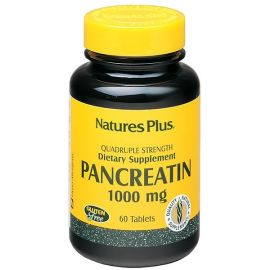 Nature's Plus Pancreatin 1000mg 60 tabs