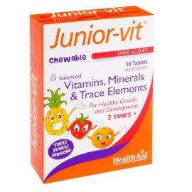HEALTH AID JUNIOR VIT CHILDREN'S Μασώμενες Βιταμίνες & Μέταλλα 3