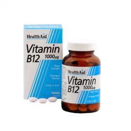 HEALTH AID ΒΙΤΑΜΙΝΗ Β12 ΚΟΒΑΛΑΜΙΝΗ 1000 mg 50 vetabs