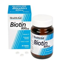 HEALTH AID ΒΙΟΤΙΝΗ Βιταμίνη H 800 mg 30 vetabs