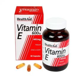 HEALTH AID Vitamin E 600 I.U. 496 mg 60 caps