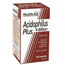 HEALTH AID ACIDOPHILUS PLUS 4 BILLION 60 vecaps