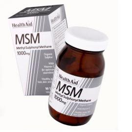 HEALTH AID MSM 1000mg (ΜΕΘΥΛΣΟΥΛΦΟΝΥΛΜΕΘΑΝΙΟ) ΟΡΓΑΝΙΚΟ 90 tabs