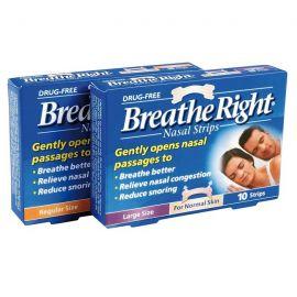 Breathe Right Ρινικές Ταινίες-κανονική, μεσαίο μέγεθος, 10 Ταινί