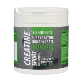 LAMBERTS Creatin 1000mg 250tabs, Κρεατίνη